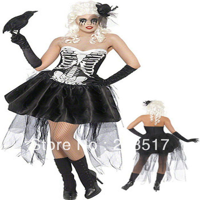 96141b6e51f US $25.37 5% OFF|New arrive skull women sexy halloween costume,adult scary  costumes,women party dress-in Scary Costumes from Novelty & Special Use on  ...