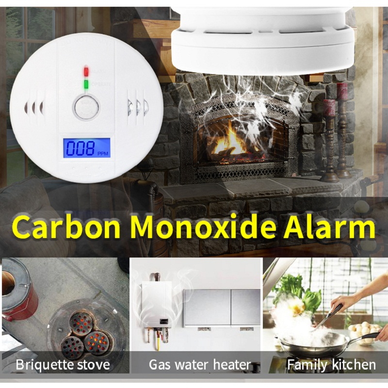 CO detector 85dB Warning High Sensitive LCD Photoelectric Independent CO Gas Sensor Carbon Monoxide Poisoning Alarm Detector co carbon alarm sensor warning monoxide poisoning smoke gas detector tester