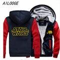 Star Wars Cosplay Chaqueta Con Cremallera Con Capucha Espesar Chaqueta de Invierno de Lana Unisex Sudaderas
