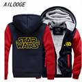 Star Wars Cosplay Coat Zipper Hoodie Winter Fleece Unisex Thicken Jacket Sweatshirts