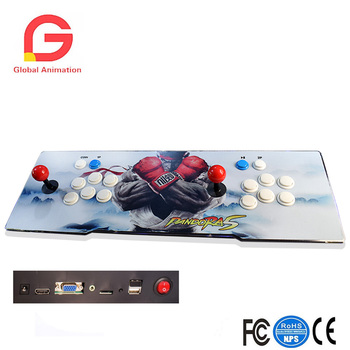 Classic Slim Metal Double Stick Arcade Game Console - 999 Classic Games-2 Players Pandora's Box 5S+ Plus Video Game Console