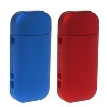 Przenośny twardy PC Case dla IQOS dla IQOS 2 4 Plus II III elektroniczny papieros dla IQOS pełne etui ochronne tanie tanio Dekoracyjne Ochrony Band Okładki Torba Protective Case Z tworzywa sztucznego Blue Red(optional) 1Pc