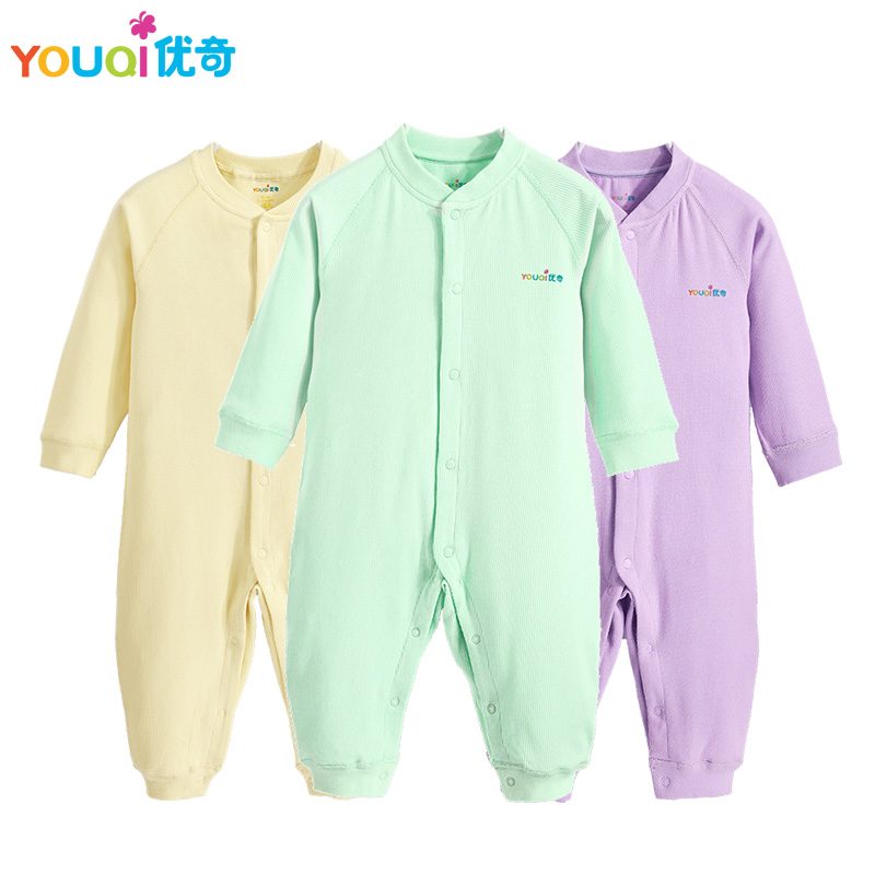 YOUQI Elastic Baby Rompers Newborn 3 6 9 Months Boys Girls Clothes Brand Jumpsuit Clothing Spring and Autumn Costumes autumn baby rompers brand ropa bebe autumn newborn babies infantial 0 12 m baby girls boy clothes jumpsuit romper baby clothing