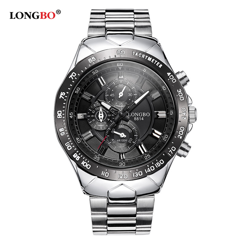 New Longbo Luxury Brand Watches Men Quartz Fashion Casual Male Sports Watches Clock Full Stainless Steel Military Wristwatches
