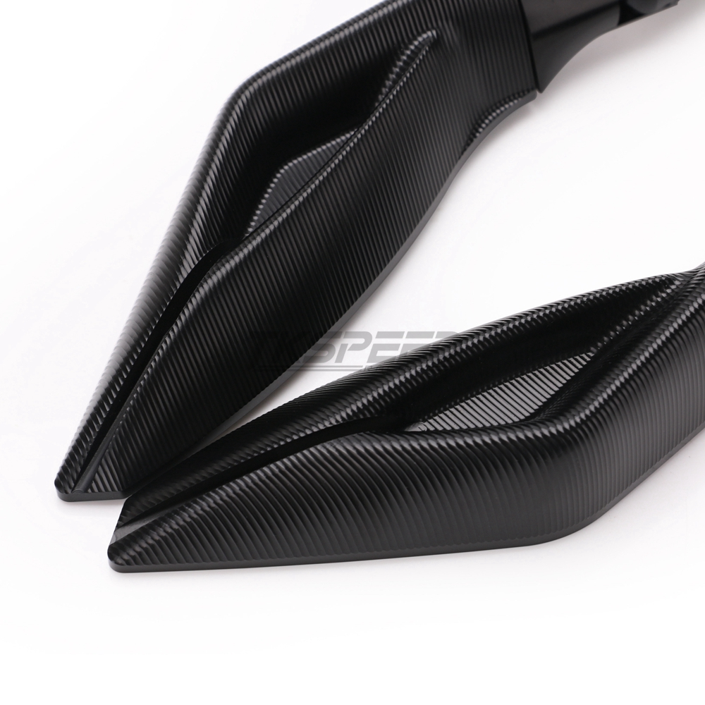 Image 3 - Full CNC Universal Motorcycle Racing Rearview mirror Racer Aluminum For Yamaha R3 R6 FZ6 TMAX530 kawasaki Z750R Z1000 KTM SUZUKI-in Side Mirrors & Accessories from Automobiles & Motorcycles