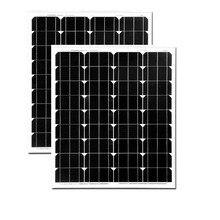 Panneaux Solaire 140w 24v 2Pc Monocrystalline Solar Panel 70W 12v Battery  Mobile Charger For Phone Autocaravana Camping