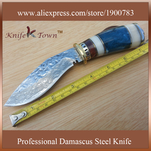 Tactical knife damascus steel blade camping knife hunting knife fixed blade knife stainless steel faca free shipping DT121