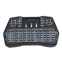 Mini I8 Gaming Keyboard Backlit Inggris Rusia Spanyol Air Mouse 2.4G Hz Keyboard Nirkabel Touchpad Handheld untuk Kotak TV Android(China)