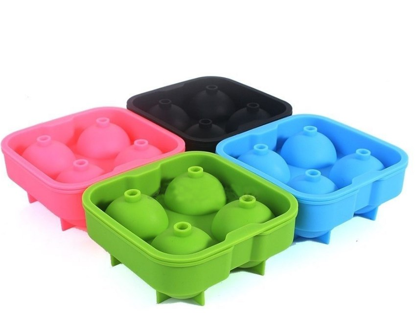 hot sell Beautiful Ice Cube Ball Maker Mold Sphere Mould Party Tray Round Bar Silicone S