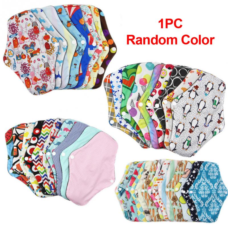 Women Washable Menstrual Pad Reusable Sanitary Pads Menstrual Mama Pad Bamboo Cotton Cloth Feminine Hygiene Panty Liner Towel