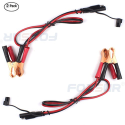 2PCS 60CM Battery Charger SAE to Alligator Clip Cable 2 Pin Wire Crocodile clamp Connector DC Cord SAE Quick Connect