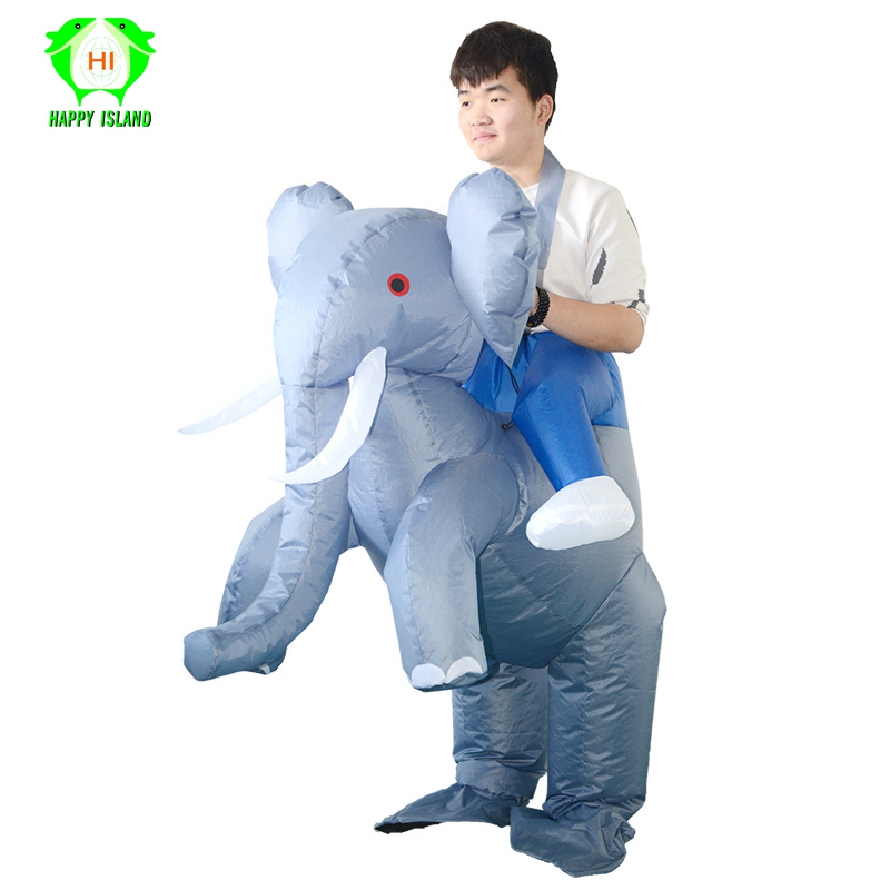 Elephant Inflatable Costumes for Men Halloween Inflatable Costumes Fancy Dress Inflatable Blow Up Mascot Party Costume for Adult