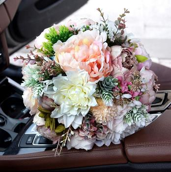 Blush Wedding Bouquet Peony Bouquet Mauve Dusty Rose Wedding Flowers