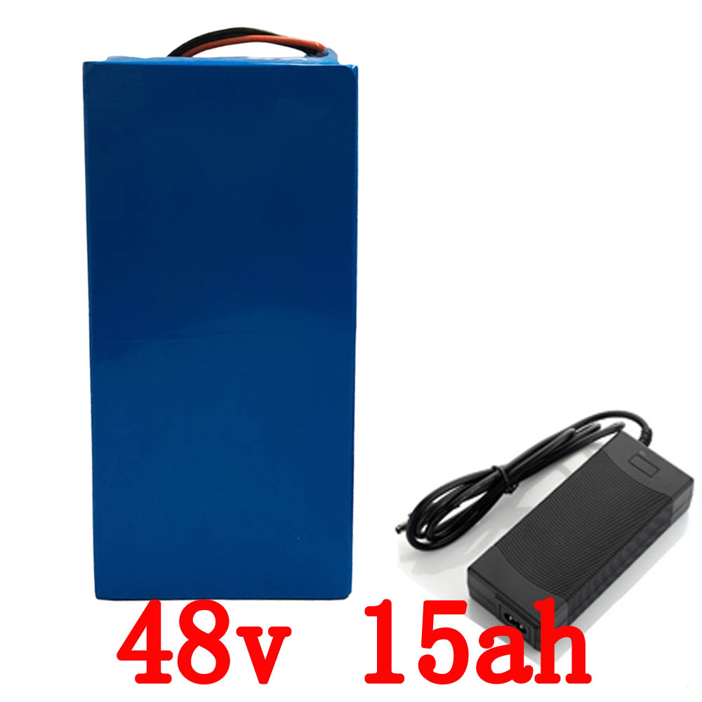 EU US no tax 48V 15AH electric bike battery lithium battery LiFePO4 1500 times cycles with charger and BMS with PVC case eu us free taxes and duties electric bike triangle battery pack 36v 15ah lithium ion battery with bms and charger