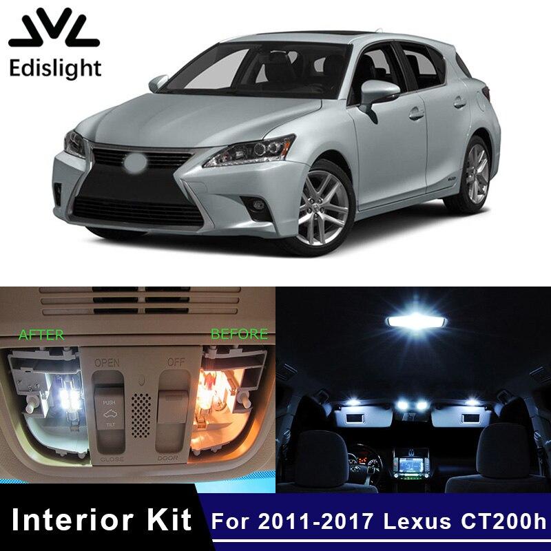 2011 Lexus Ct Exterior: Edislight 10Pcs White Canbus LED Lamp Car Bulbs Interior