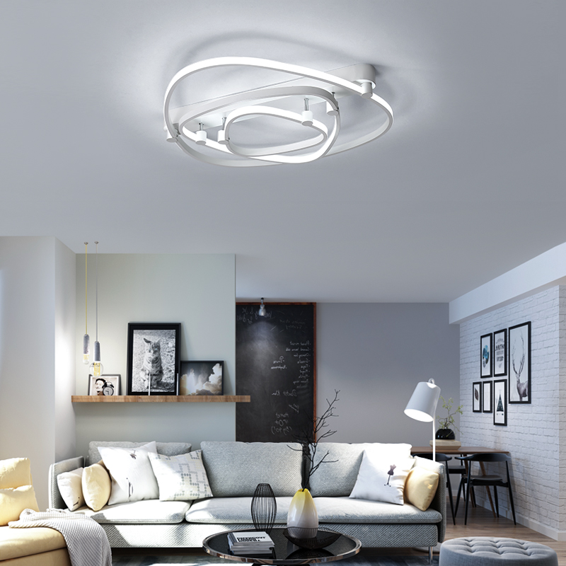 N Rectangle Acrylic Aluminum Modern Led ceiling lights for living room bedroom AC85 265V White Ceiling Lamp Fixtures