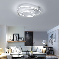 N Rectangle Acrylic Aluminum Modern Led ceiling lights for living room bedroom AC85 265V White Ceiling Lamp Fixtures