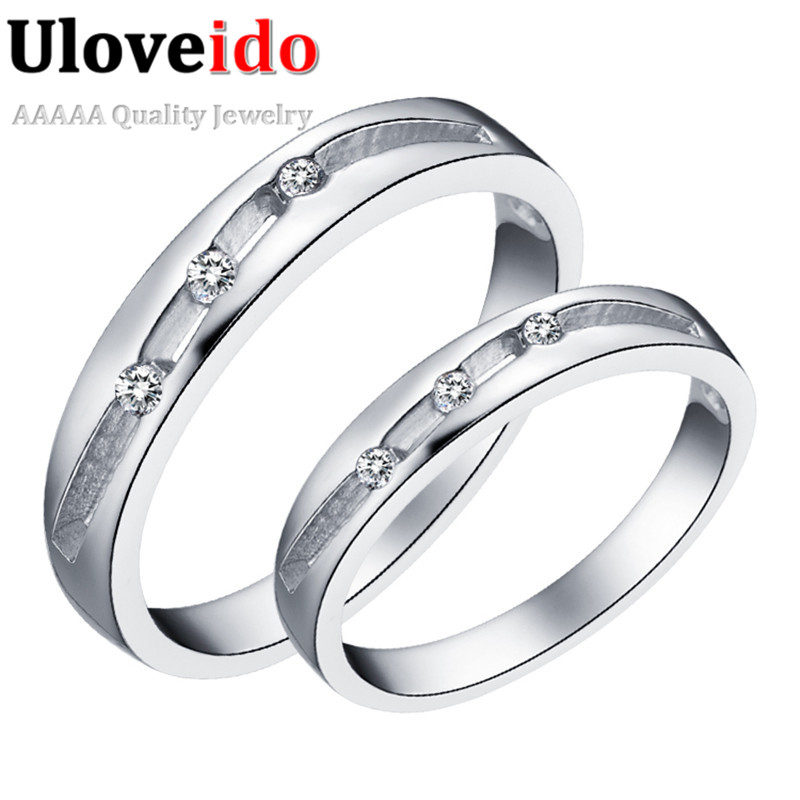 Wholesale Fashions Jewelry Wedding Couple Rings, Mens Rings Bague Women Cubic Zirconia New Silver Jewelry Lovers Gift Ulove J273