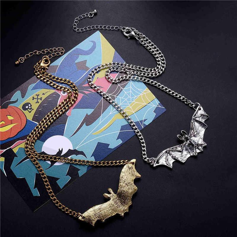 クールゴシック植物動物ため gragon バットイーグルハートローズペンダントネックレス仮装パーティージュエリーギフト
