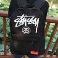 33*42*13 CM stussy saco retro ocasional saco mochila de lona alta homens e mulheres skate mochila Japonês mochila de estudante