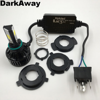 DarkAway AC Motorcycle LED Headlight H4 40W 4000Lm Bike HS1 PH7 PH8 BA20D H6 H4 LED Bulb Front Light Lamp 360 Degrees Beam White