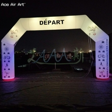 beautiful inflatable event arch with led lights and print logo for race event