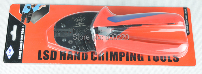 0.5-4mm2 Terminal Crimping Tool Bootlace Ferrule Crimper for cord end lug S-04WFL