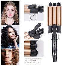 110-240V Professional Crimper Ceramic Corrugated Curler Curling Iron Hair Styler