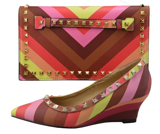 ФОТО Colorful Italian Shoes With Matching Bags African Shoe And Bag Set For Party In Women Shoes And Bags To Match CH01