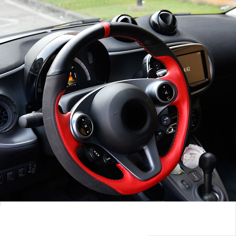 lsrtw2017 cowl leather car steering wheel cover for smart fortwo forfour 2014 2015 2016 2017 2018 2019 w453 c453 a453lsrtw2017 cowl leather car steering wheel cover for smart fortwo forfour 2014 2015 2016 2017 2018 2019 w453 c453 a453
