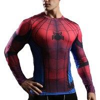 Yeni Adam Sıkıştırma T-shirt Spiderman 3D Baskı Tees Slim Fit Tayt Üstleri Spor Giyim Karakter Örümcek Erkekler Tişörtleri Rashguard