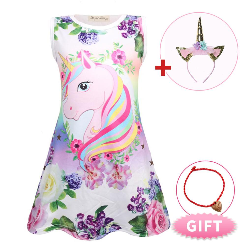 2019 Summer Princess Dress Girls Dress Sleeveless Clothing Children Princess Party Dress Unicorn Clothes Lol Doll Clothes in Dresses from Mother Kids