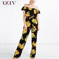 RZIV Mulheres define top de culturas e calças conjunto e conjunto de conjuntos de 2 peças para a mulher roupas de verão das mulheres 2016