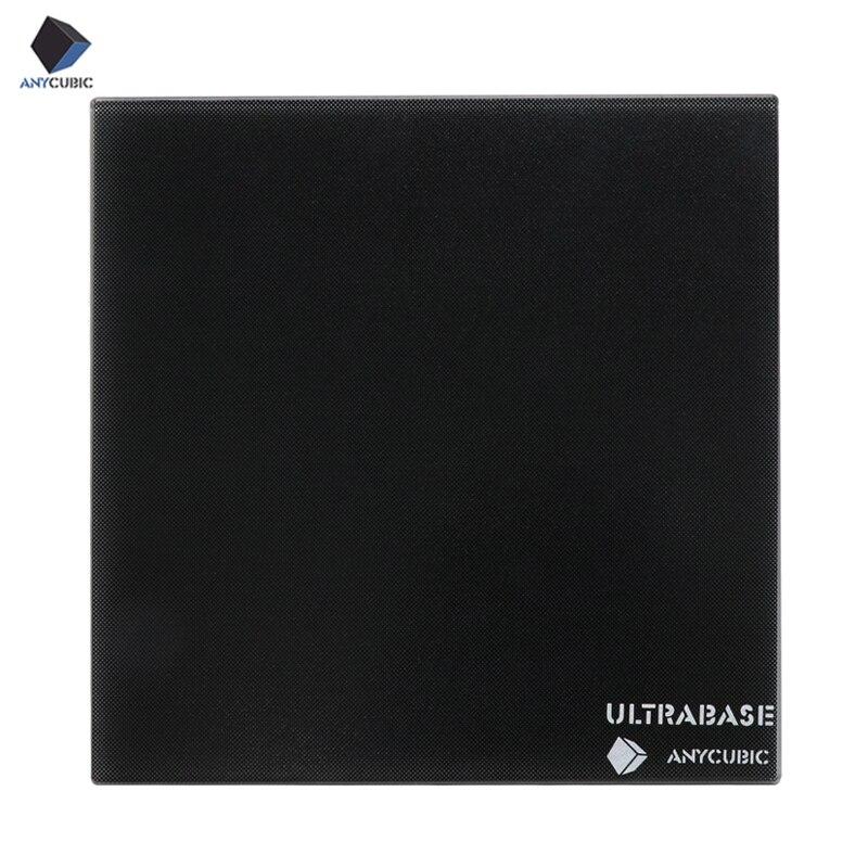 ANYCUBIC Ultrabase Para Impressora 3D Plataforma Cama Aquecida Construir Superfície placa De Vidro 310x310x4mm para MK2 MK3 cama Quente