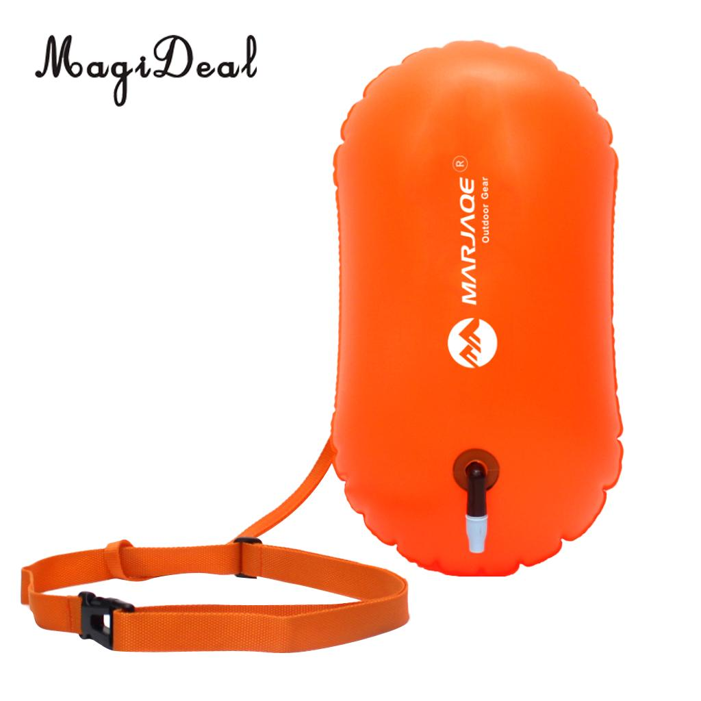 MagiDeal Sports Safety Swim Buoy Tow Float Pool Open Water Swimming Inflatable Airbag