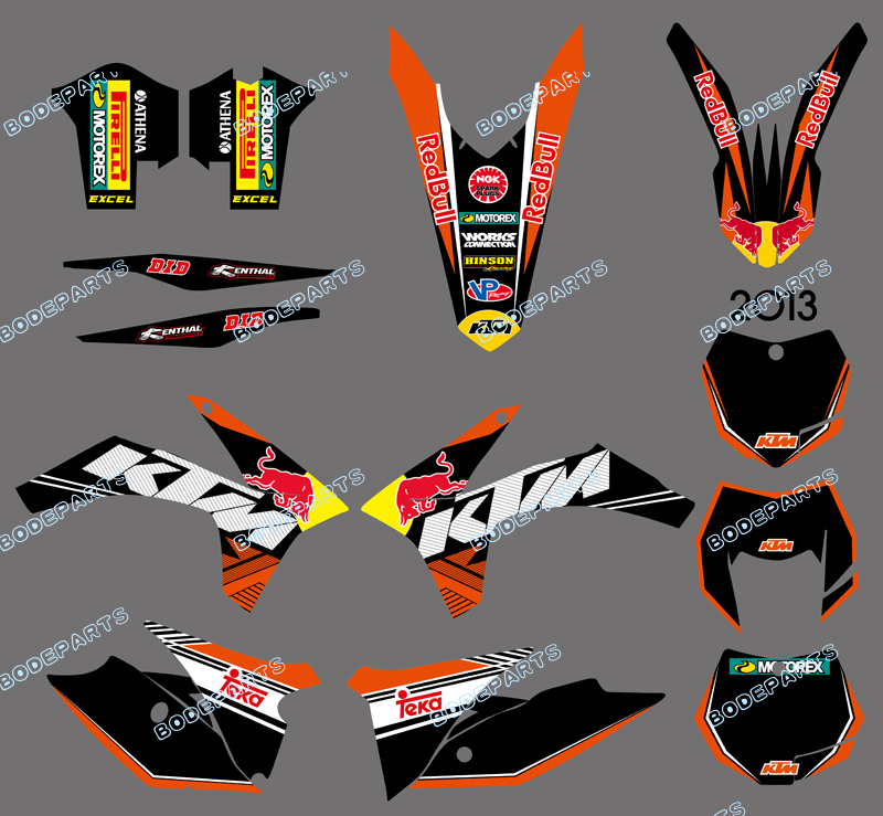 DST0598 (bull )NEW STYLE TEAM GRAPHICS WITH MATCHING BACKGROUNDS FOR KTM 125/200/250/300/350/450/500 EXC 2012-2013 XC 2011  0322 star new team graphics with matching backgrounds fit for ktm sx sxf 125 150 200 250 350 450 500 2011 2012