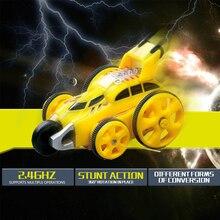 цена на Mini Stunt Car Dump Truck 1pcs New Inertia Tumbling Dump Tank Vehicles ABS Plastic Model Cars Birthday Gift Toys For Boys
