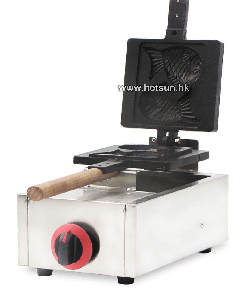 Commercial Non-stick 2pcs LPG Gas Taiyaki Fish Waffle Maker Iron Machine commercial use non stick lpg gas japanese takoyaki octopus fish ball maker iron baker machine