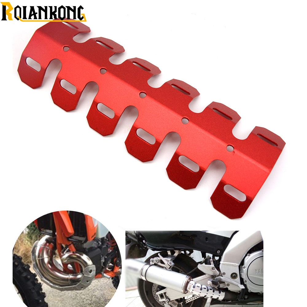 CNC New Motorcycle Exhaust Muffler Pipe Heat Shield Cover Guard For HONDA CR125 CR250 XR125 XR250 CRF250 CRF450 CRM250 in Covers Ornamental Mouldings from Automobiles Motorcycles