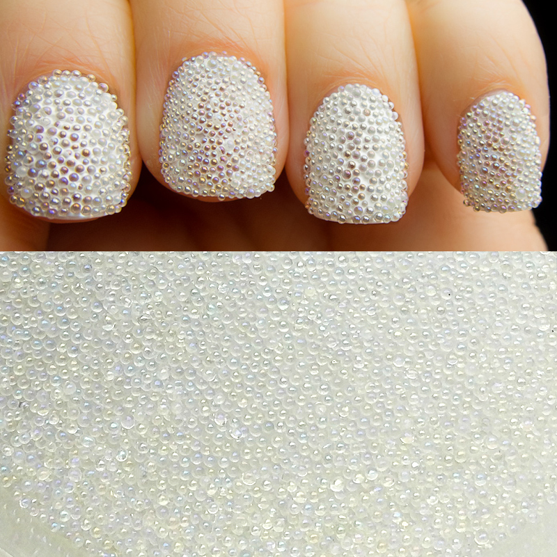 10 g / botella AB Color Nail Art Trend 0.6mm 0.8mm Nail Caviar Beads - Arte de uñas