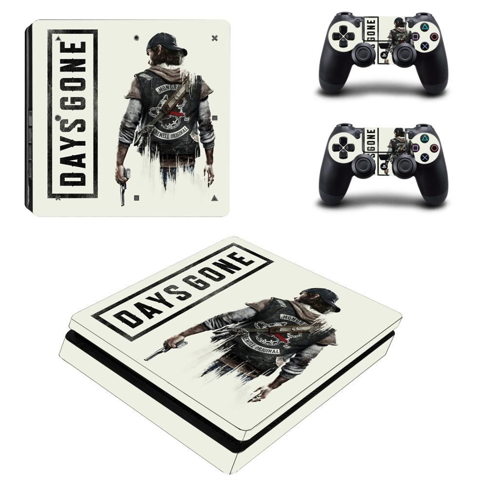 Game Days Gone PS4 Slim Skin Sticker Decal Vinyl for Playstation 4 Console and Controller PS4 Slim Skin Stickers