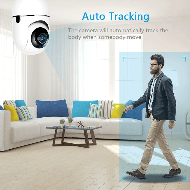 SECTEC Cloud Wireless IP Camera 1080P Intelligent Auto Tracking Of Human Home Security Surveillance CCTV Network Wifi Cam 1