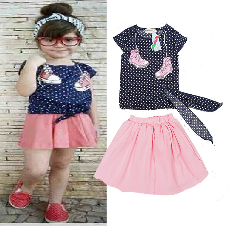 2018 New Spring Baby Girls Sets Little Baby Girl Clothes Bow Collar Bewborn Clothing Pri ...