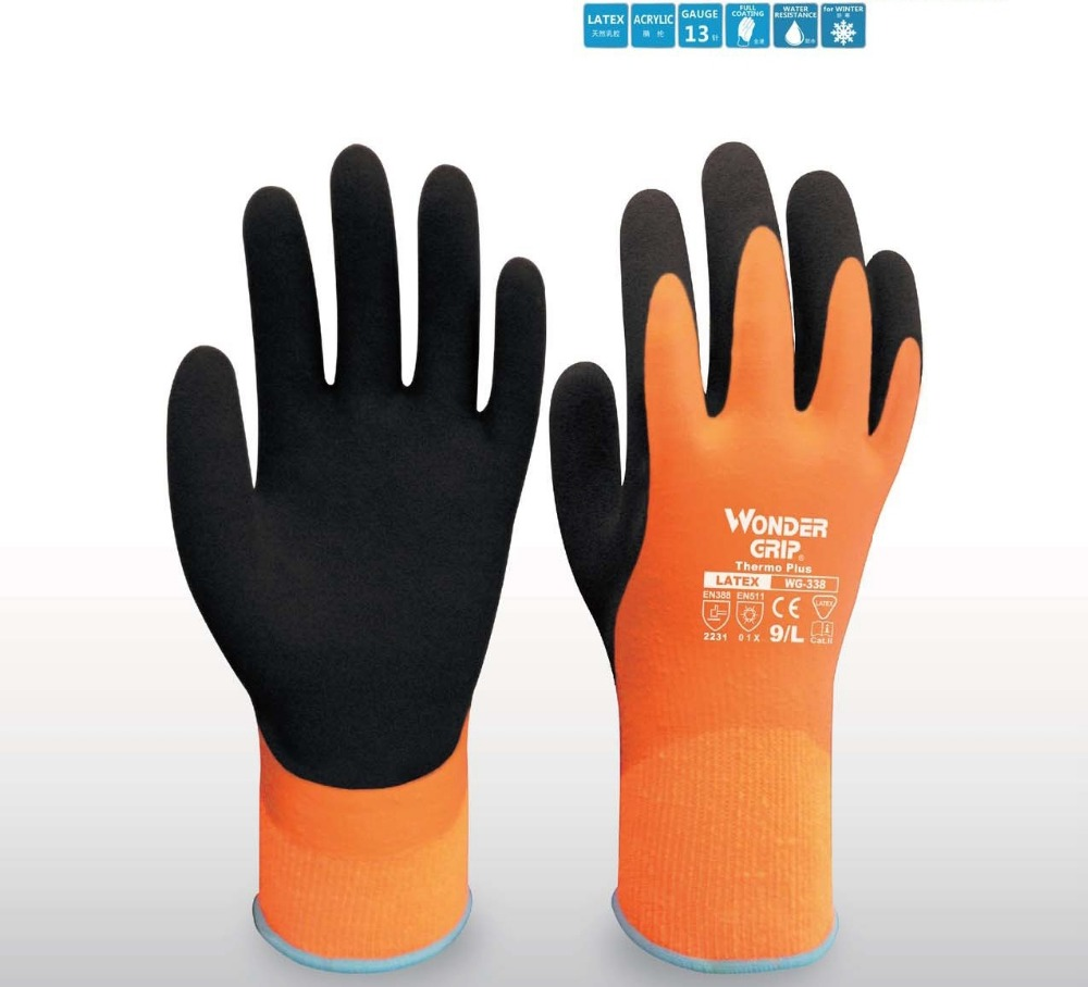Wonder Grip Safety Gloves Safety Glove Fully Immersed Water Proof Gloves Cold-proof Waterproof Winter Work Gloves