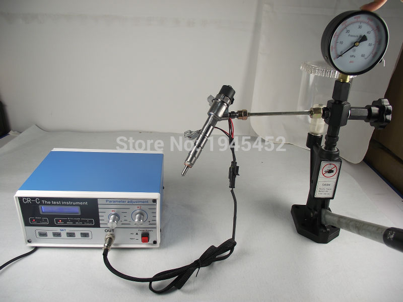 Free shipping CR C multifunction diesel common rail injector tester and S60H Nozzle Validator Common rail
