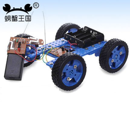 PW M39 DIY Mini Car Model with Remote Controller Gear Motor Technology Invention Funny Puzzle Education Car Toy