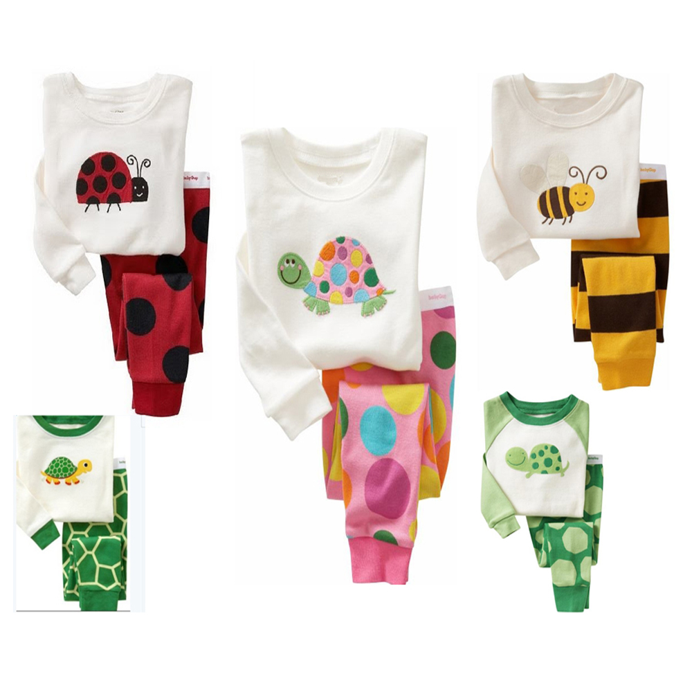 Selling Pyjamas Baby Boys Sleepwear Kids 100% Cotton Long Sleeve Fashion Cartoon Panda Pajamas For Girls Children Clothes