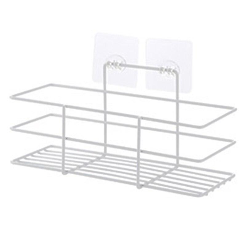 NEW Bathroom Storage Racks Kitchen Paste Type Storage Shelf Condiment Toiletries Organizer For Home Kitchen