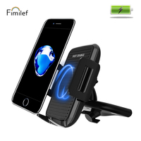 Fimilef Qi Car Wireless Fast Charger Phone Holder For iphone Samsung S8 Car CD Slot GPS Mobile Mount Charging Stand Car Holder