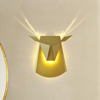 Рога оленя Настенные светильники 6 Вт LED животных Настенные светильники Светильник Современный дом Освещение в помещении ресторан кафе клу